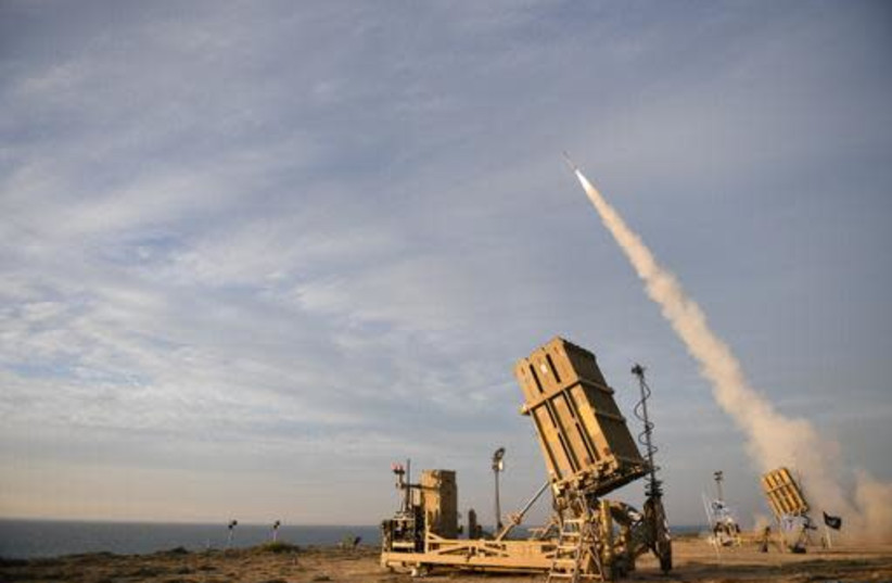 Successful tests of the new Iron Dome weapons system, February 1, 2021 (photo credit: DEFENSE MINISTRY)