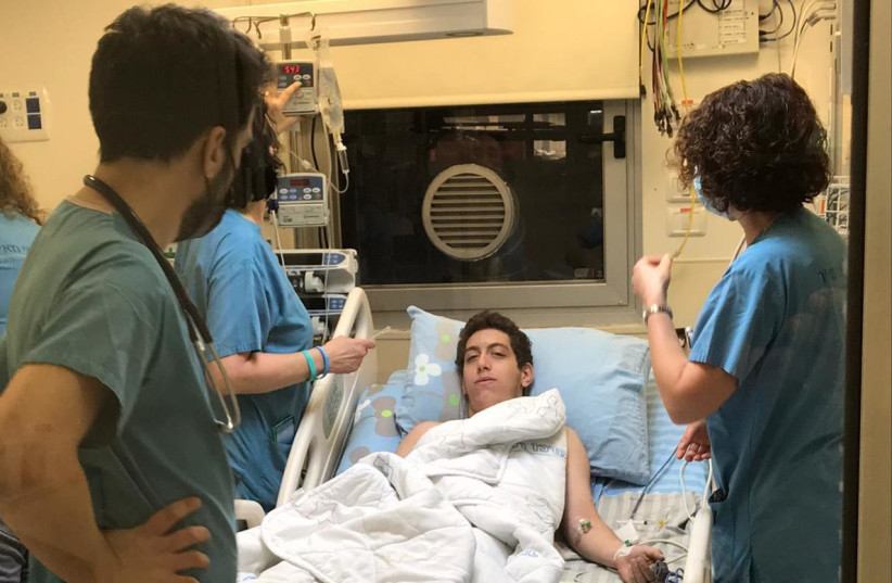 A 16-year-old Israeli is treated after getting bitten by a snake (photo credit: COURTESY OF FAMILY)