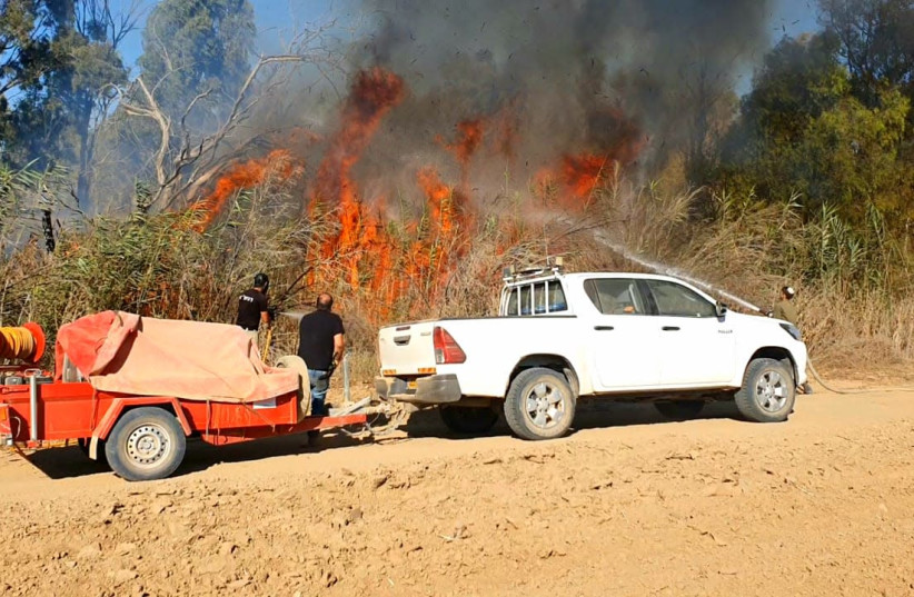 JNF-USA's fire wagons help Israel's firefighters combat blazes (photo credit: JNF USA)
