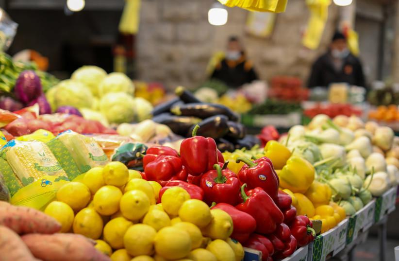 Fresh vegetables are sold at the shuk (market) (photo credit: MARC ISRAEL SELLEM)