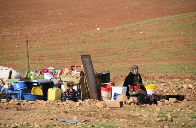 Khirbat Humsa (photo credit: AREF DARAGHMEH/B'TSELEM)
