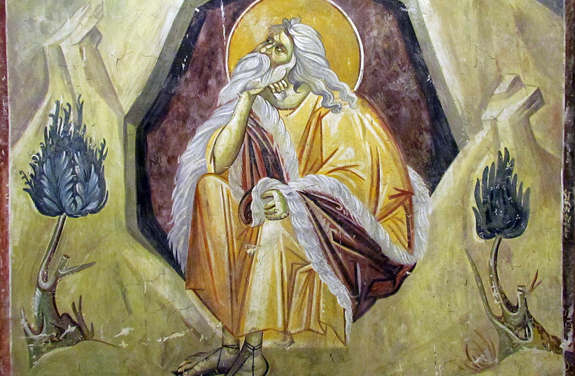 ELIJAH, A prophet and a miracle worker; fresco from the Gracanica Monastery (photo credit: Wikimedia Commons)