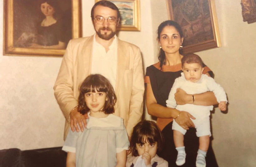 JACQUES KUPFER with his wife and children, 1984; eldest daughter Nili Naouri is at left (photo credit: KUPFER FAMILY)