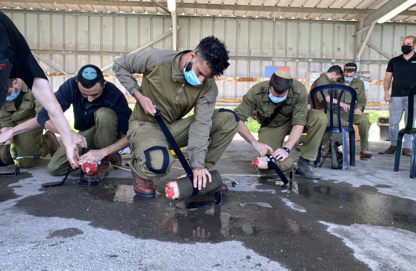 In preparation for war with Hezbollah, the army hired the services of a private company called Extreme Simulations, which specializes in training emergency response organizations such as MDA and United Hatzalah. (photo credit: UDI SHAHAM)