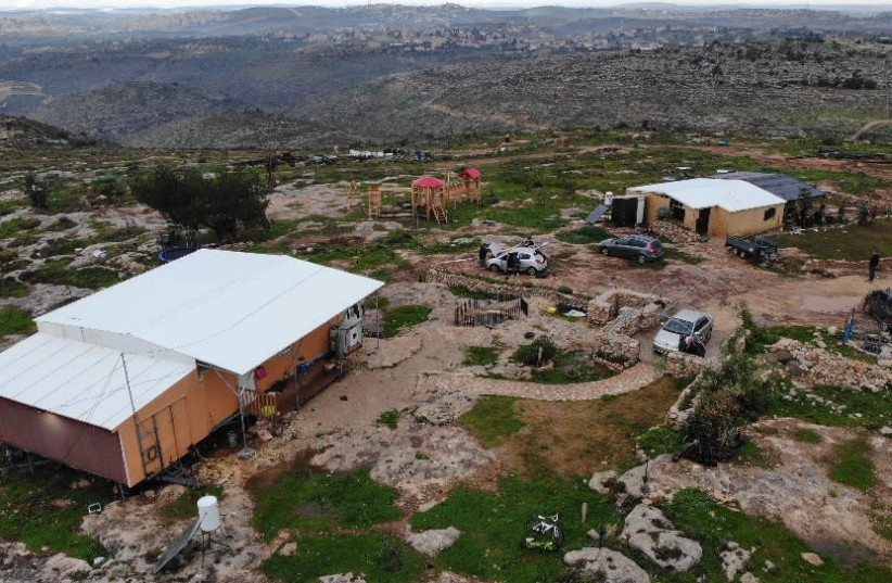 """The """"Sde Ephraim"""" farm in the Binyamin regional area in the West Bank, where a Palestinian terrorist infiltrated and attempted an attack on Thurdsday night, February 5, 2021.  (photo credit: IDF SPOKESPERSON'S UNIT)"""