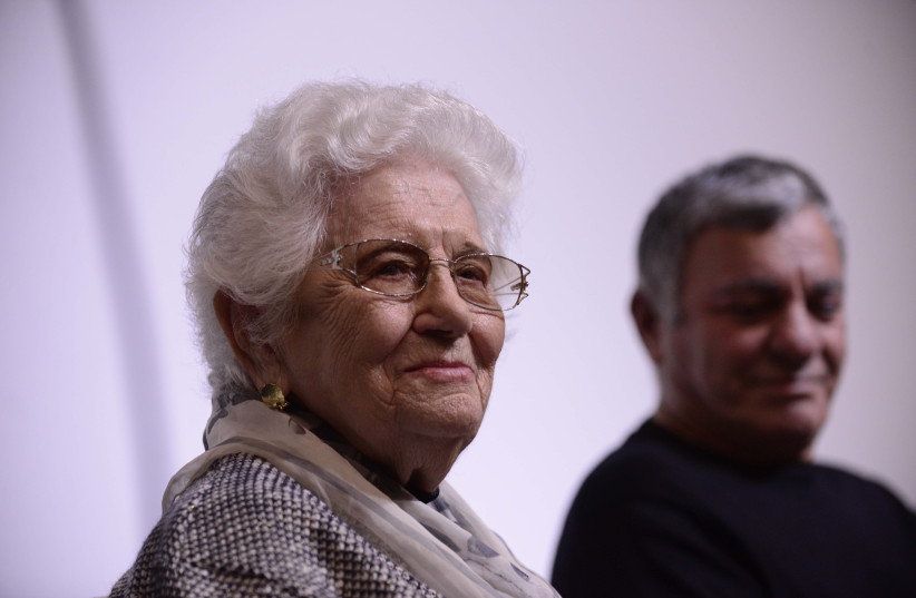 Ruth Dayan, wife of former minister Moshe Dayan, passed away age 103, February 5, 2021 (photo credit: TOMER NEUBERG/FLASH90)