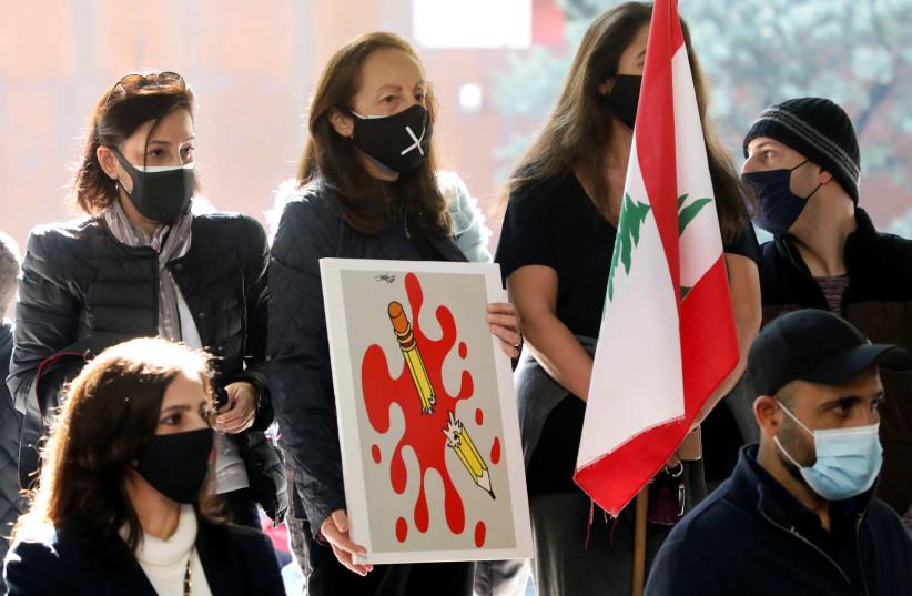 Activists in Beirut protest killing of Hezbollah critic Lokman Slim