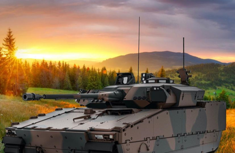 COPAS system installed on a CV90 armored combat vehicle (photo credit: ELBIT SYSTEMS)