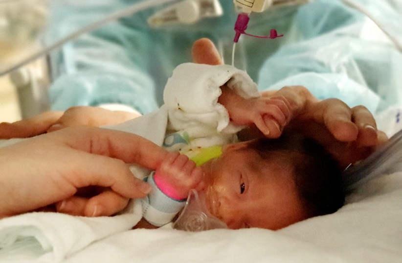 The 'Four Hands' method at Meir Hospital's prenatal care ward  (photo credit: MEIR MEDICAL CENTER SPOKESMAN)