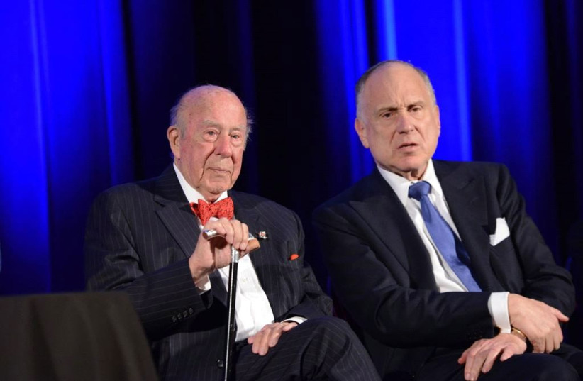 Former secretary of state George Shultz and World Jewish Congress President Ronald S. Lauder. (photo credit: Courtesy)