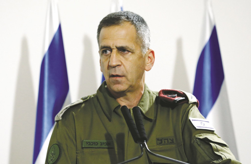 IDF CHIEF of Staff Lt.-Gen. Aviv Kochavi. Israel can criticize the Americans for returning to the Iran deal, as Kochavi illustrated during a speech last month. (photo credit: CORINNA KERN/REUTERS)
