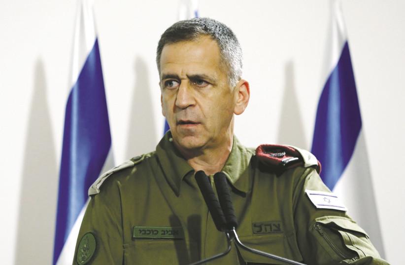 Chef d'état-major de la FID, lieutenant-général.  Aviv Kochavi.  Israël peut critiquer les Américains pour leur retour à l'accord avec l'Iran, comme Kochavi l'a illustré lors d'un discours le mois dernier.  (crédit photo: CORINNA KERN / REUTERS)