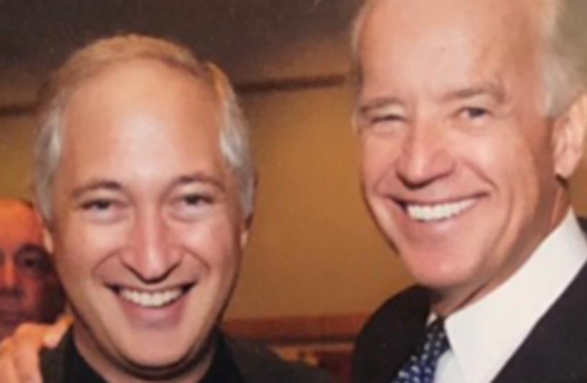 Rabbi Beals and Biden. (photo credit: Courtesy)