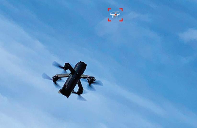 DroneLock- Drone against drone interception, SKYLOCK, Avnon group (photo credit: SKYLOCK)