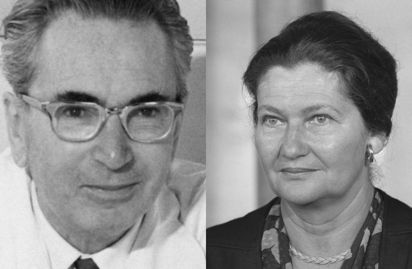 Viktor Frankl (1905-1997) and Simone Veil (1927-2017). (photo credit: WIKIPEDIA)