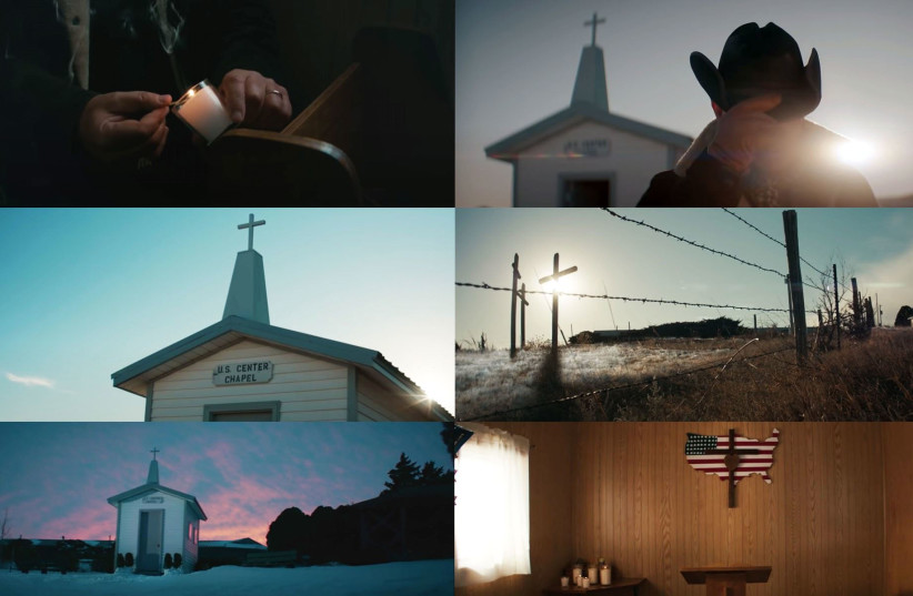 Christian imagery in the Bruce Springsteen/Jeep Super Bowl LV ad, Feb. 7, 2021 (photo credit: YOUTUBE SCREENSHOT/JTA)