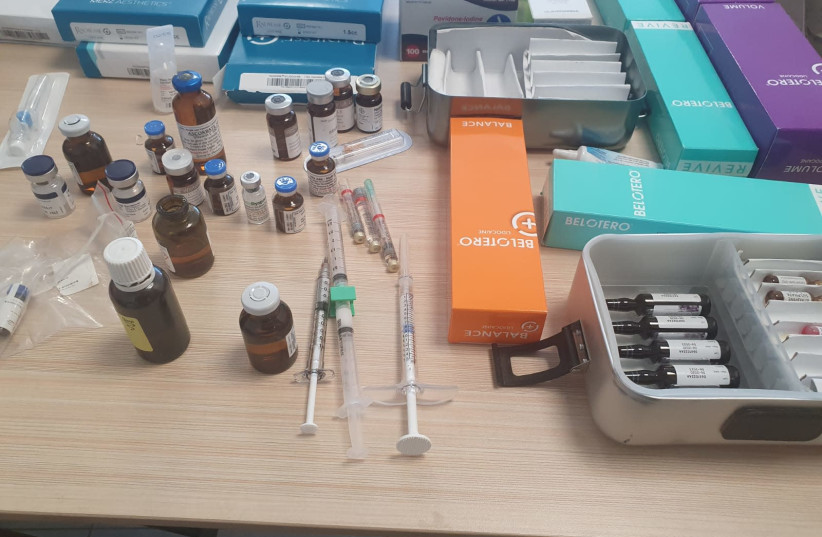 Substances found in Oren Cacholi's clinic as he was arrested on suspicion of impersonating a doctor. (photo credit: HEALTH MINISTRY)