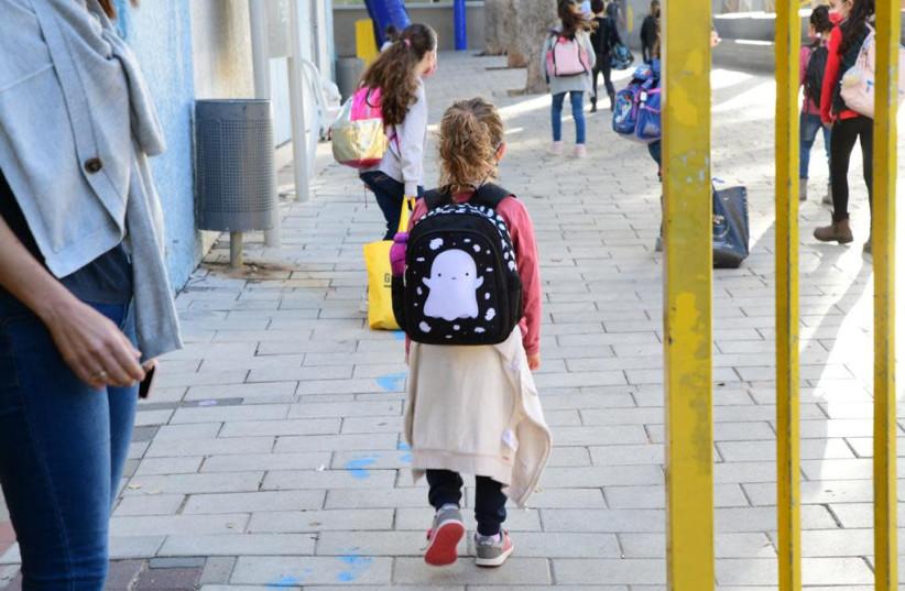 Schools reopen after third national coronavirus lockdown, Feb. 11, 2020 (photo credit: AVSHALOM SASSONI/ MAARIV)
