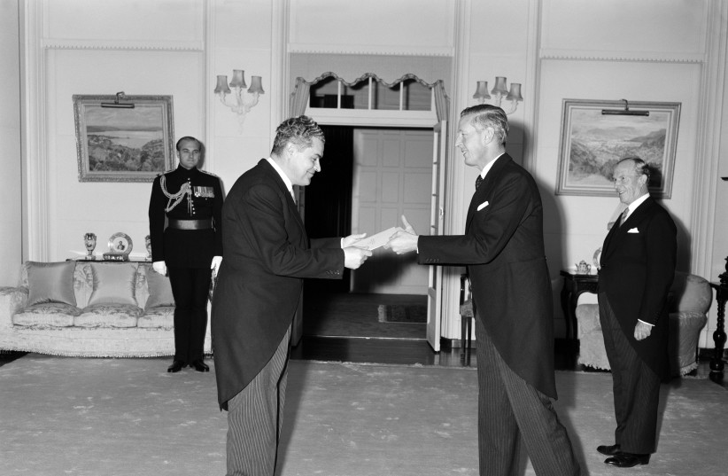 AUSTRALIAN RELATIONS with the Soviets: Soviet ambassador Vitaly Loginov presents his credentials to the governor-general at Government House, Canberra, in 1963. (photo credit: Wikimedia Commons)