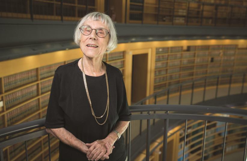 RETIRED JUSTICE Dalia Dorner in the Supreme Court Library. (photo credit: NOAM REVKIN FENTON/FLASH90)