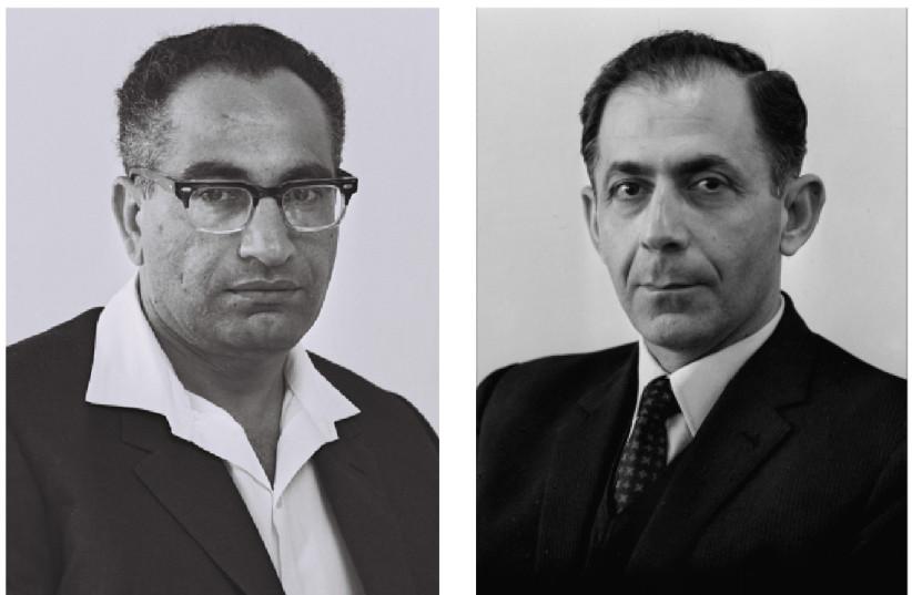 Mordechai Ben-Porat and Shlomo Hillel (photo credit: FRITZ COHEN/GPO)