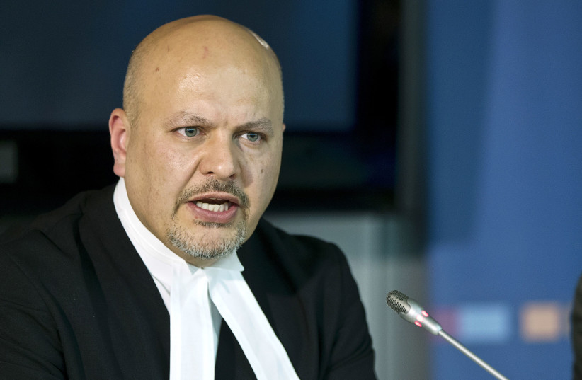 Defence Counsel for Kenya's Deputy President William Ruto, Karim Khan attends a news conference before the trial of Ruto and Joshua arap Sang at the International Criminal Court (ICC) in The Hague September 9, 2013. (photo credit: MICHAEL KOOREN / REUTERS)