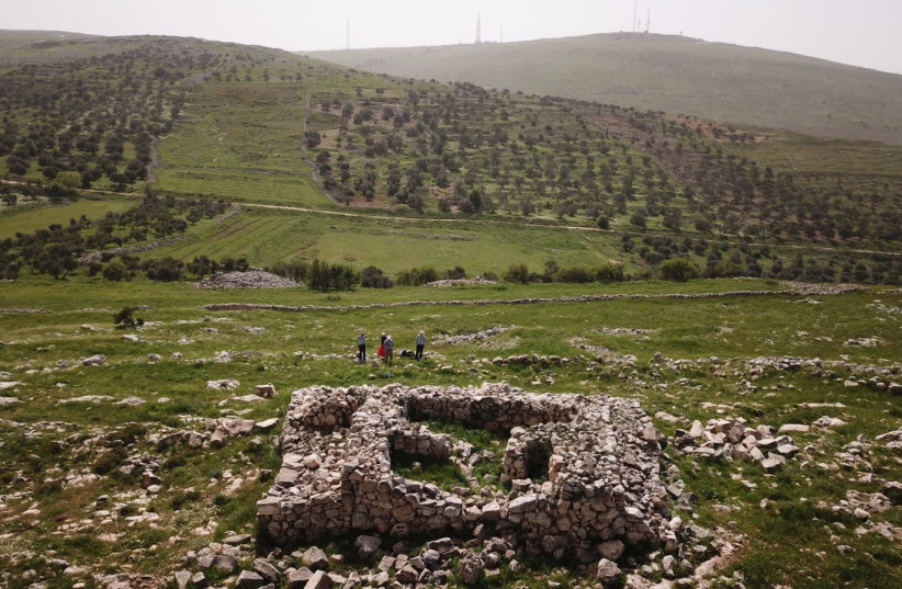 The archaeological site known as Joshua's Altar in the West Bank. (photo credit: AARON LIPKIN - LIPKIN TOURS AGENCY)