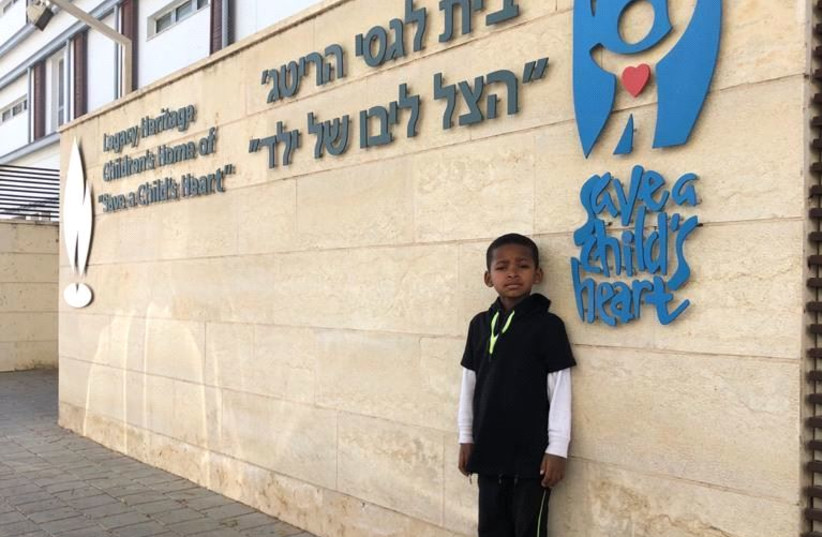 6-year-old Benjamin at the Save a Child's Heart Facility.  (photo credit: COURTESY OF SAVE A CHILD'S HEART)