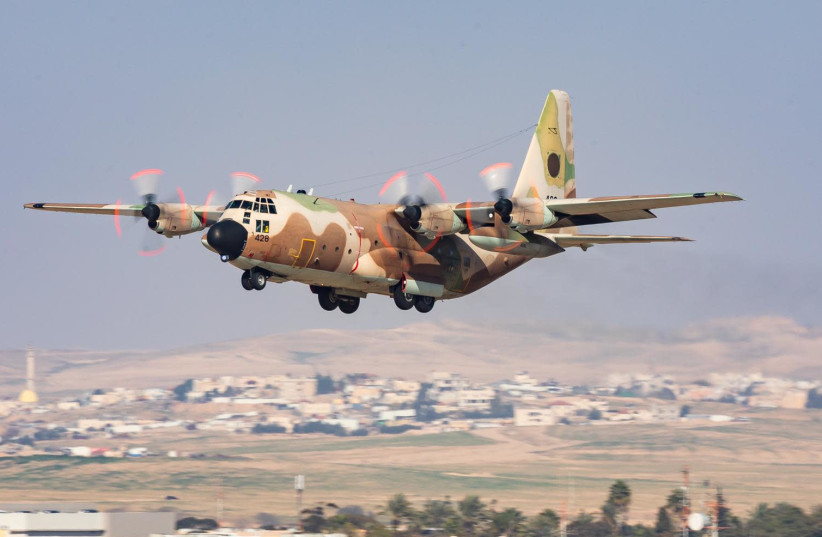 IAF aircraft is seen participating in the Vered Hagalil drill. (photo credit: IDF SPOKESPERSON'S UNIT)