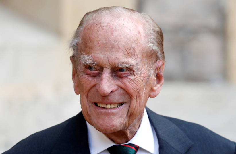 Britain's Prince Philip takes part in the transfer of the Colonel-in-Chief of the Rifles at Windsor Castle in Britain July 22, 2020. (photo credit: REUTERS)