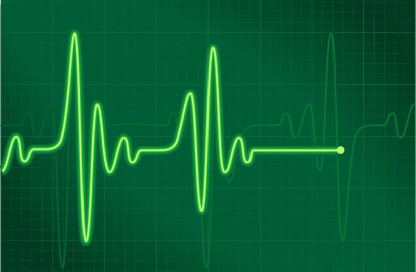 Heartbeat flatlining (Illustrative) (photo credit: PIXY.ORG)