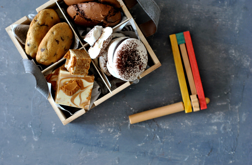 A box of holiday sweets, just in time for Purim (photo credit: PASCALE PEREZ-RUBIN)
