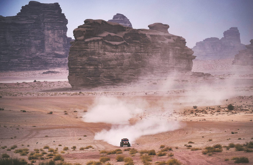 A LIGHTWEIGHT Vehicles Prototype team, operated by Israelis, takes part in the Dakar Rally, Saudi Arabia, last month. (photo credit: OMER PEARL/HANDOUT VIA REUTERS)