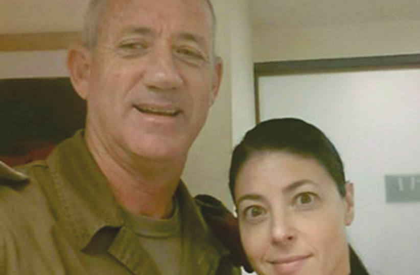 MERAV MICHAELI with a smiling, non-political Benny Gantz when he was IDF chief of staff. (photo credit: Courtesy)