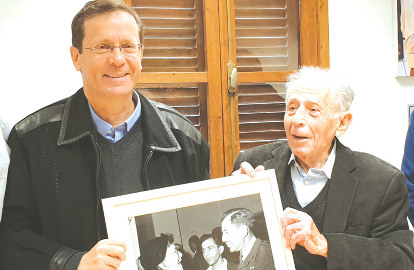 THE WRITER with Shlomo Hillel a few years ago. (photo credit: Courtesy)
