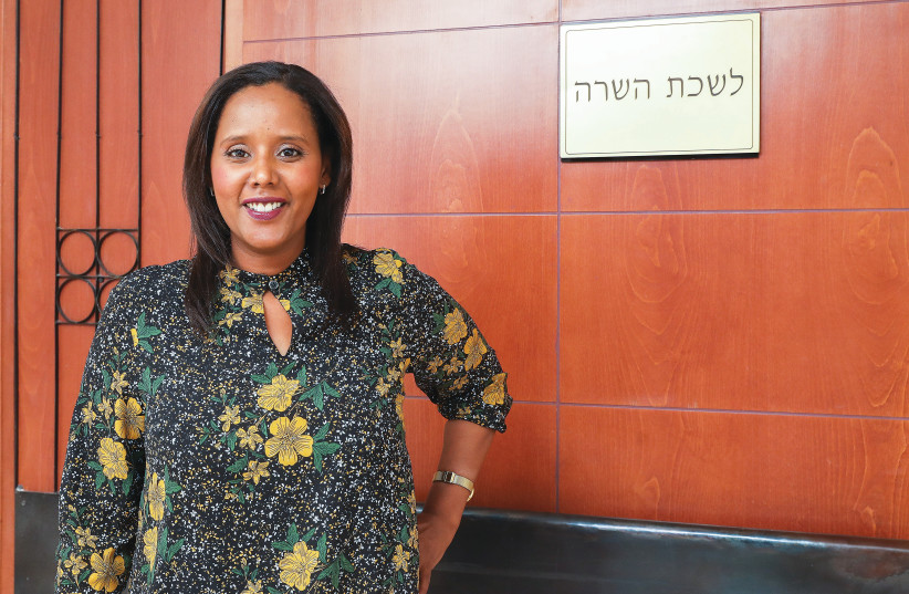 PNINA TAMANO-SHATA next to her ministerial office. (photo credit: MARC ISRAEL SELLEM/THE JERUSALEM POST)