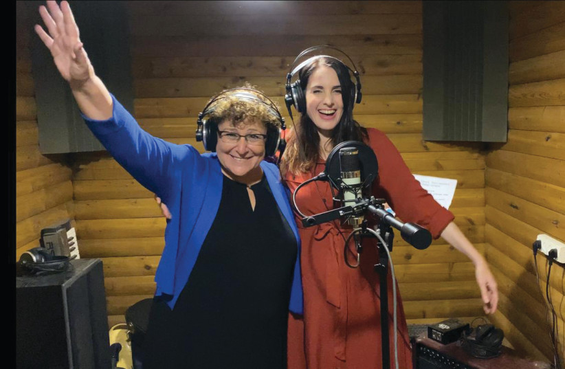 LIAT ITZHAKI (right) and Miriam Peretz in the studio. (photo credit: MASTIK MARKETING AND PRODUCTIONS)