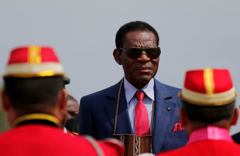 President Teodoro Obiang Nguema Mbasogo of Equatorial Guinea (photo credit: REUTERS/DAVID MERCADO/FILE PHOTO)