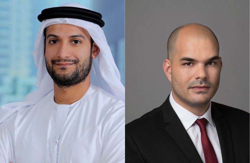 Attorneys Hamdan AlShamsi (left) and Roy Eilon (right) (photo credit: Courtesy)