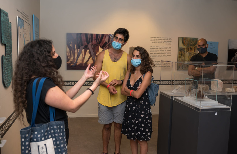 Tour at the Bible Lands Museum  (photo credit: SHAI EZRI)