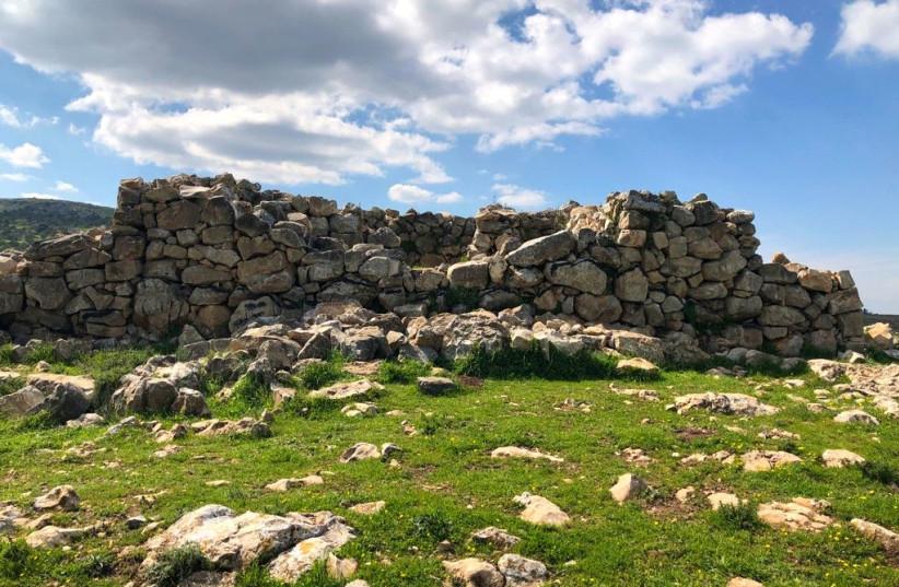 Joshau's altar on Mt. Ebal (photo credit: TOVAH LAZAROFF)