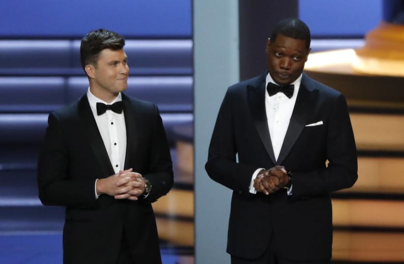 70th Primetime Emmy Awards - Show - Los Angeles, California, U.S., 17/09/2018 - Hosts Colin Jost and Michael Che. (photo credit: REUTERS/MARIO ANZUONI)