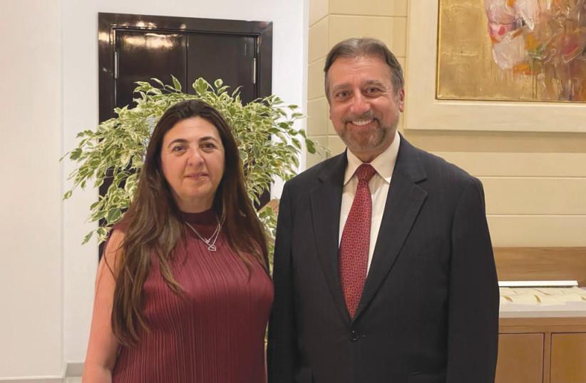 Ambassador Houda Nonoo and Rabbi Dr. Elie Abadie (photo credit: Courtesy)