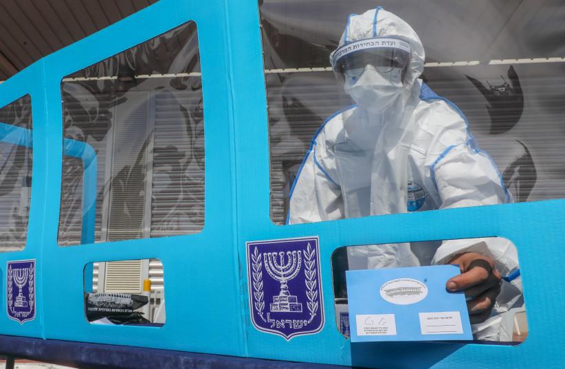 Israeli election amid the coronavirus pandemic 2021 (photo credit: MARC ISRAEL SELLEM)