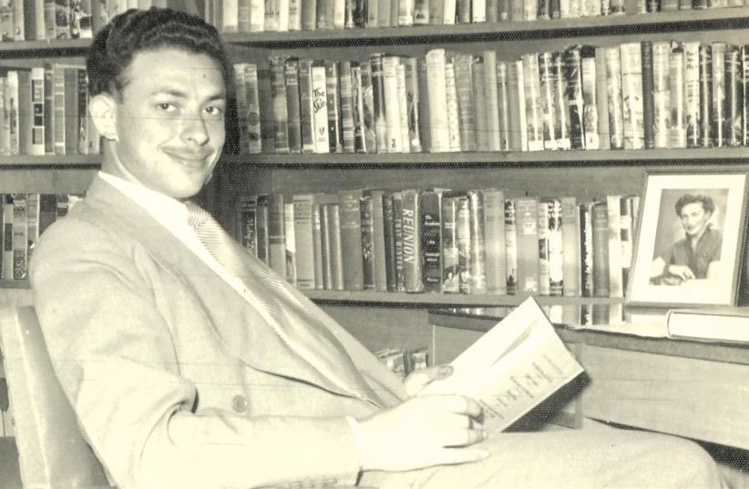 Isi Leibler in his library in 1953 (photo credit: Courtesy)