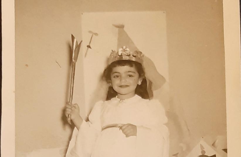 Peggy Cidor as a young Queen Esther in Tunisia (photo credit: Courtesy)