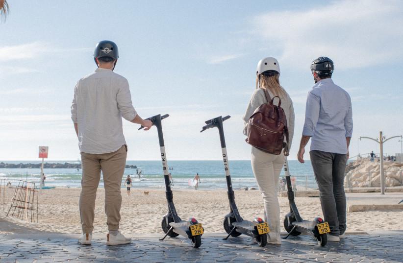 Bird users in Tel Aviv (photo credit: Courtesy)