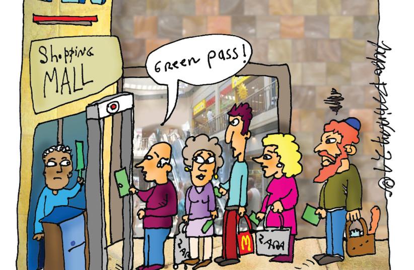 Cartoon on Israel's green passport program (photo credit: Courtesy)