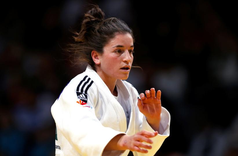 Judo - Women under 57kg - Paris International Grand Slam judo tournament - AccorHotels Arena, Paris, France - February 8, 2020 - Timna Nelson Levy of Israel in action.  (photo credit: REUTERS/CHRISTIAN HARTMANN)