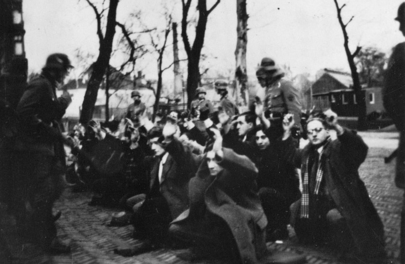 Arrest of Dutch Jews by the Nazis, February 1941  (photo credit: PHOTO COLLECTION/DUTCH GOVERNMENT INFORMATION SERVICE)